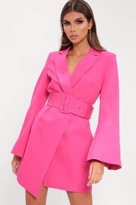 e415b6e15180 I SAW IT FIRST Pink Belted Blazer Dress
