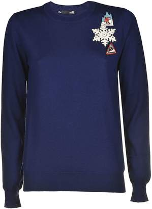 Love Moschino Embroidered Detail Sweater