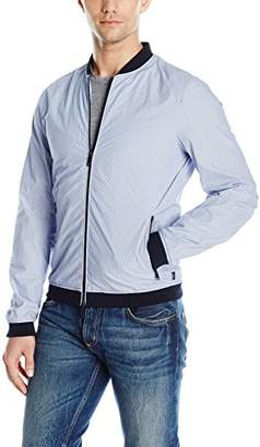 Armani Jeans Men's Stretch Cotton Popeline Bomber Jacket
