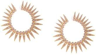 Oscar de la Renta spiked earrings