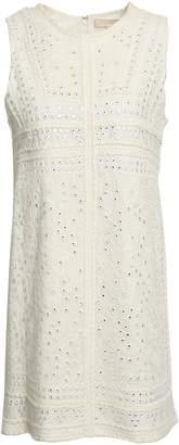 Vanessa Bruno Embellished Embroidered Canvas Mini Dress