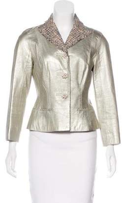 Louis Vuitton Metallic Leather Jacket