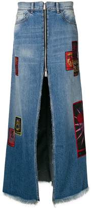 Marcelo Burlon County of Milan long zipped skirt