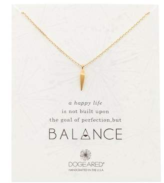 Dogeared Balance Faceted Spear Pendant Necklace