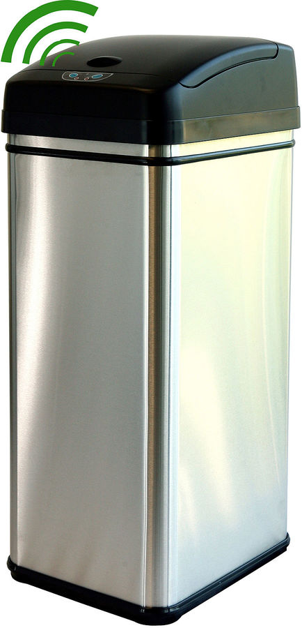 Itouchless iTouchless 13-Gal. Deodorizing Touchless Trash Can