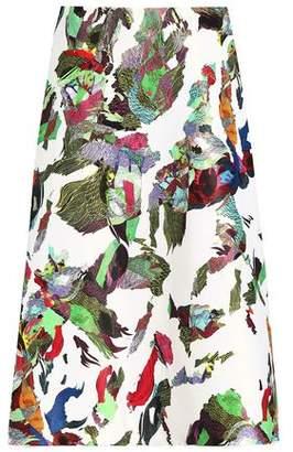 Versace Printed Satin Midi Skirt