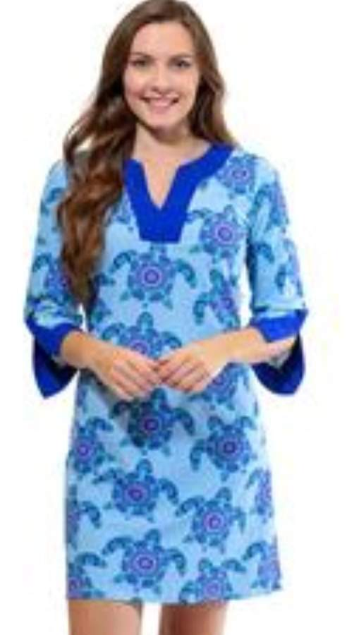 All For Color 3/4 Tunic Dress