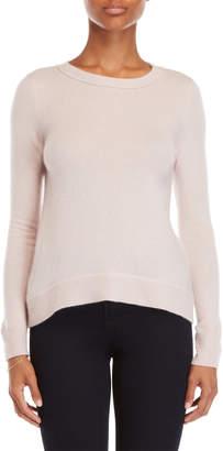 Vertical Design Cashmere Ribbed Back Sweater