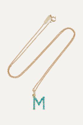 Jennifer Meyer Letter 18-karat Gold Diamond Necklace
