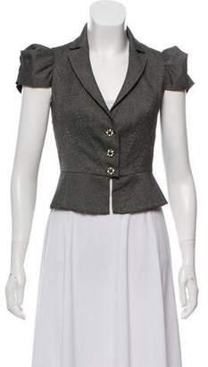 Rebecca Taylor Cropped Short Sleeve Jacket