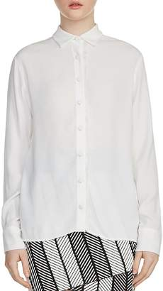 Maje Cosmos Frayed-Trim Shirt