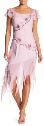 Papillon Flutter Beaded Silk Dress