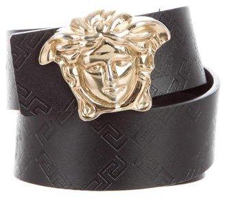 Versace Medusa Leather Belt $175 thestylecure.com