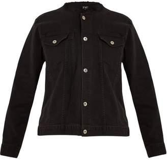 Eve Denim Kaila Collarless Denim Jacket - Womens - Black