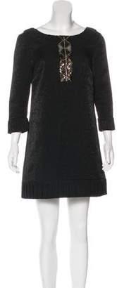 Ali Ro Sequence Accent Mini Dress
