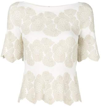 D-Exterior D.Exterior floral embroidered blouse