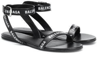 Balenciaga Printed leather sandals