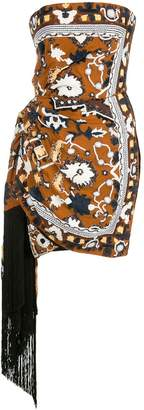 Oscar de la Renta bead embroidered tassel dress