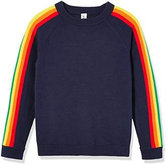Kid Nation Kids'' Long Sleeve Pullover Sweater Rainbow for Boys or Girls XL