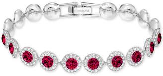 Swarovski Silver-Tone Crystal Flex Bracelet