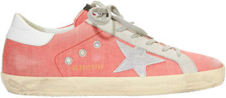 Golden Goose Superstar Pink Denim Low-Top Sneakers