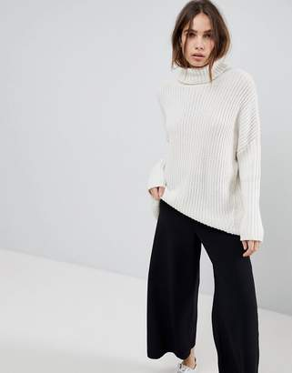 Weekday Turtle Neck Fluffy Knit Jumper