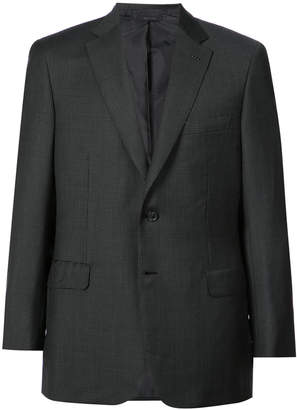Brioni checked suit jacket