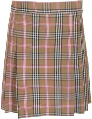 Jucca Checked Mini Skirt