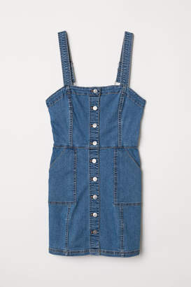 H&M Bib Overall Dress - Blue