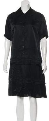 Celine Sateen Short Sleeve Dress