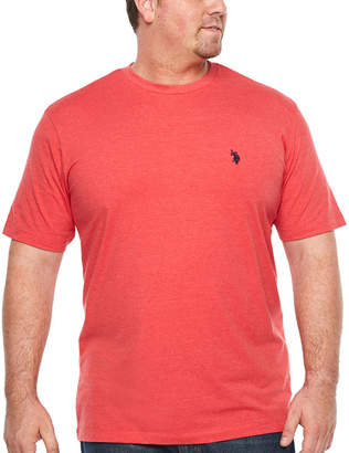 U.S. Polo Assn. USPA Short Sleeve Crew Neck T-Shirt-Big and Tall
