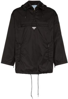 Prada logo hooded raincoat