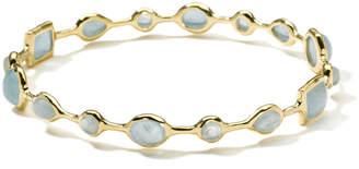Ippolita 18k Gold Rock Candy® Gelato Bangle, Milky Aquamarine