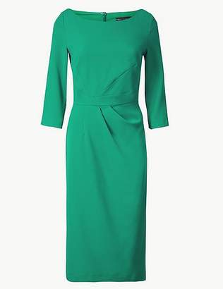 Marks and Spencer Pleated 3/4 Sleeve Bodycon Dress