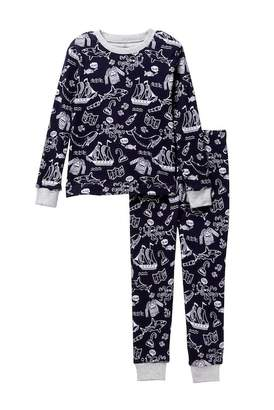 Petit Lem Shark Allover Print 2-Piece PJ Set (Little Boys & Big Boys)