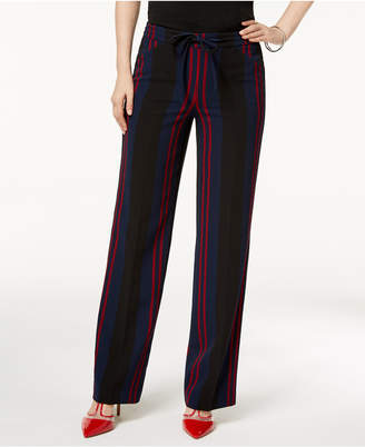 INC International Concepts I.n.c. Petite Striped Wide-Leg Pants, Created for Macy's