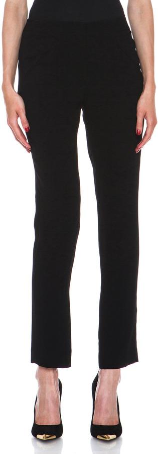 Jenni Kayne Crepe Slant Pocket Pant in Black