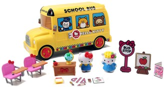 Hello Kitty Deluxe School Bus Playset by Jada Toys