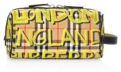Burberry Graffiti Print Vintage Check Pouch