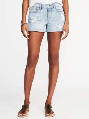 """Old Navy Boyfriend Distressed Denim Shorts for Women (3"""")"""
