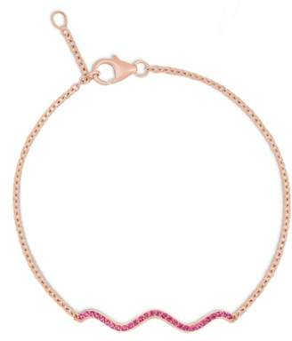 Sabine Getty Memphis Chained Wave Pink Sapphire Bracelet