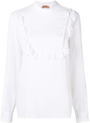 No.21 ruffle bib blouse