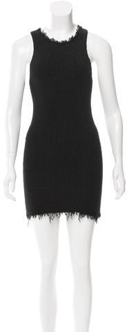 CelineCéline Silk Raw-Edge Dress