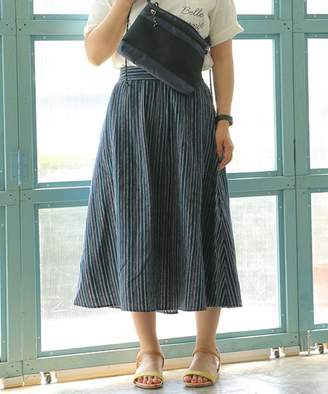 LBC (エルビーシー) - LBC コットンリネンストライプスカート