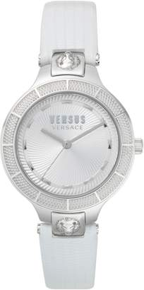 Versace Claremont Leather Strap Watch, 32mm