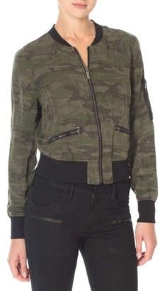 Women's Sanctuary Camo Print Bomber Jacket $149 thestylecure.com