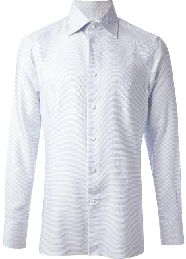 Ermenegildo Zegna pointed collared shirt