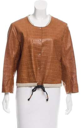 Ter Et Bantine Embossed Leather Jacket