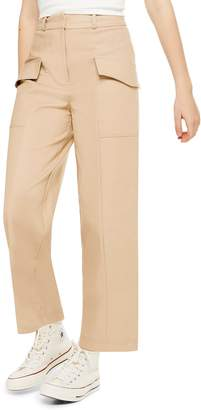 Topshop Cropped Utility Trousers
