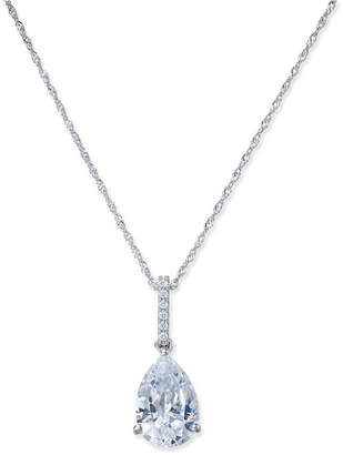 Arabella Swarovski Zirconia Teardrop Pendant Necklace in 14k White Gold